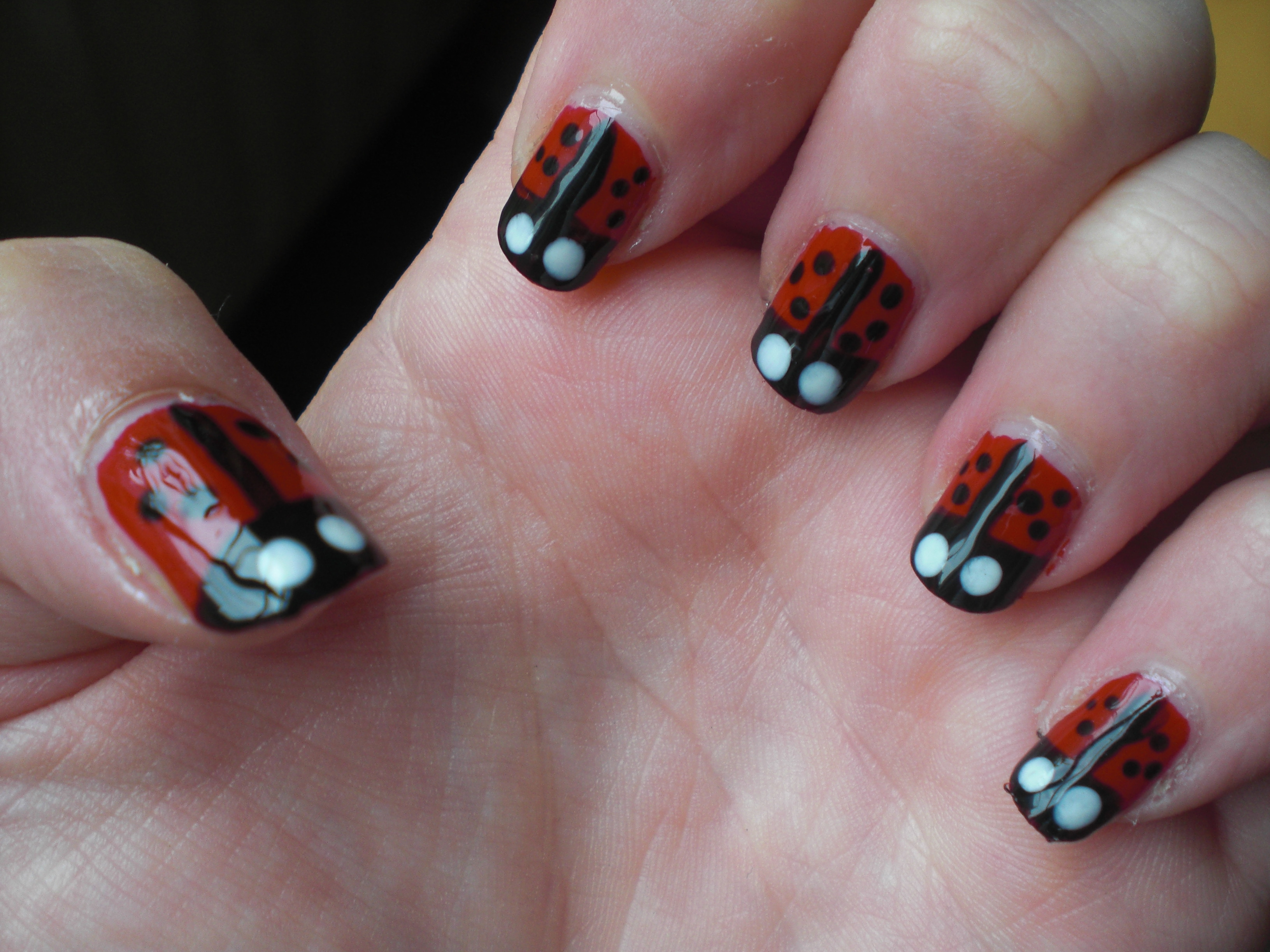 Notw Ladybug Nails Floating In Dreams