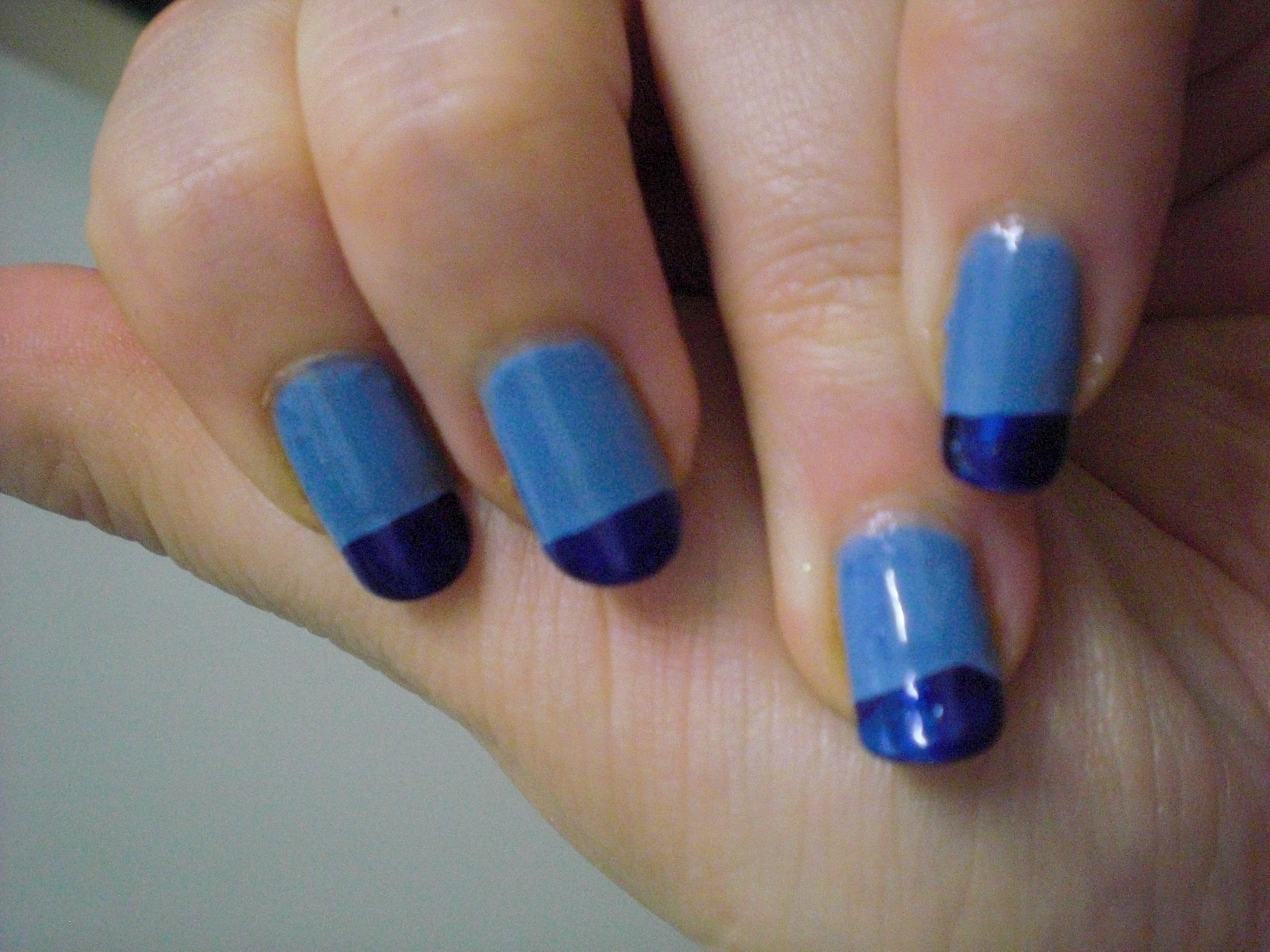 NOTW: Blue toned french manicure – Floating in dreams