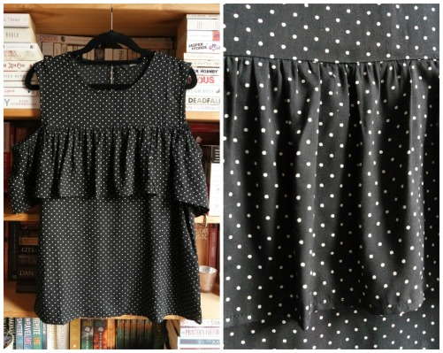 Only polka dot ruffle top haul
