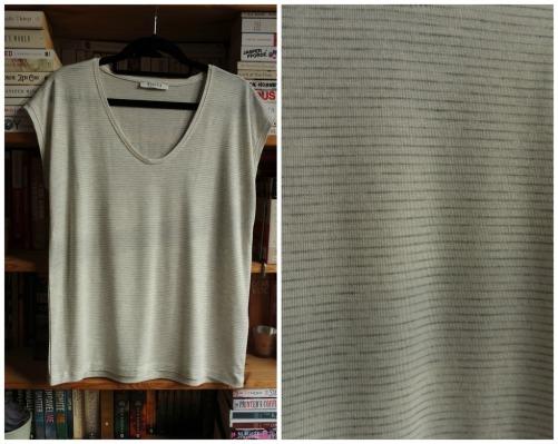 Pieces striped v-neck t-shirt haul