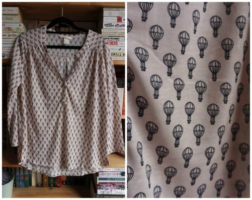 H&M hot air balloon print blouse pink haul