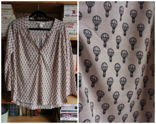 H&M hot air balloon print blouse pink haul