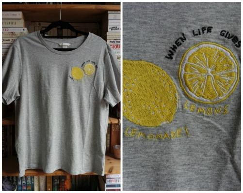 H&M grey lemon t-shirt haul