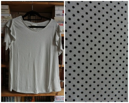 H&M polka dot ruffle sleeve top haul