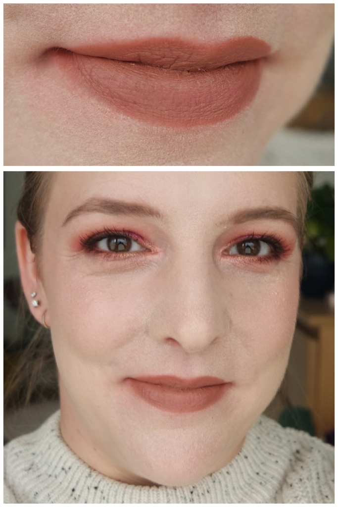 catrice lipstick review swatch lipswatch clean id ultra high shine full satin nude fair skin makeup look application